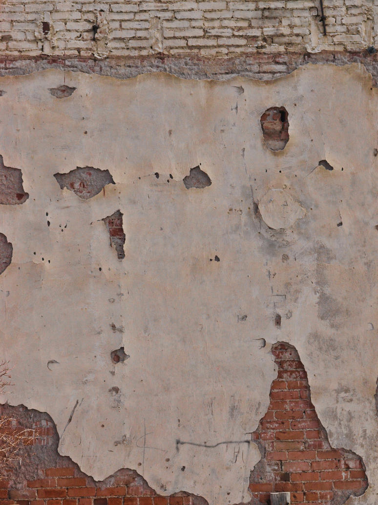 paint cracked brick wall by fotophi