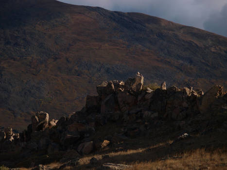 mountain hilltop rocks 8