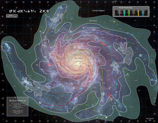 Star Wars Galaxy Map by chrischanaud