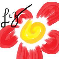 red flower by Alptraumkrieger