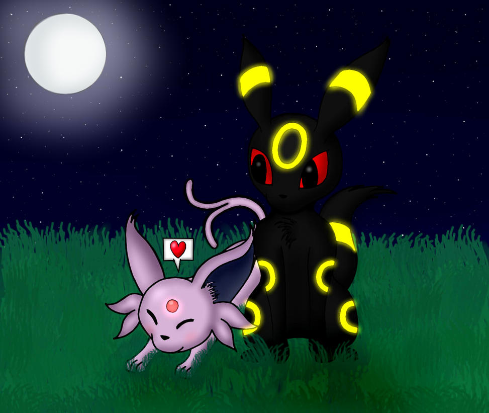 Umbreon x Espeon by FierySintle on DeviantArt