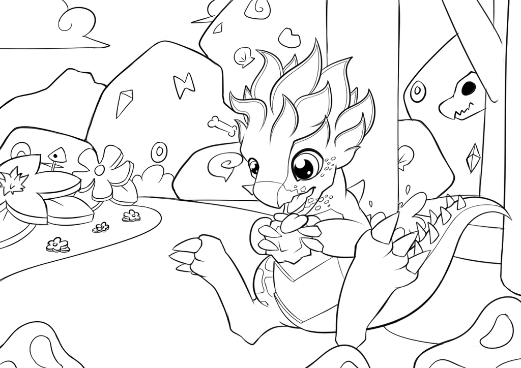 Agavedragon Coloring Picture Dragonmanialegends By