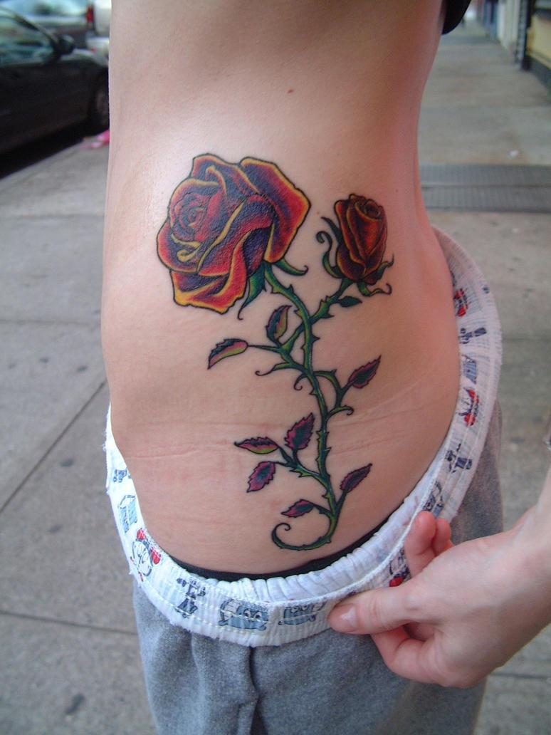 rose tattoo by tattooistgus