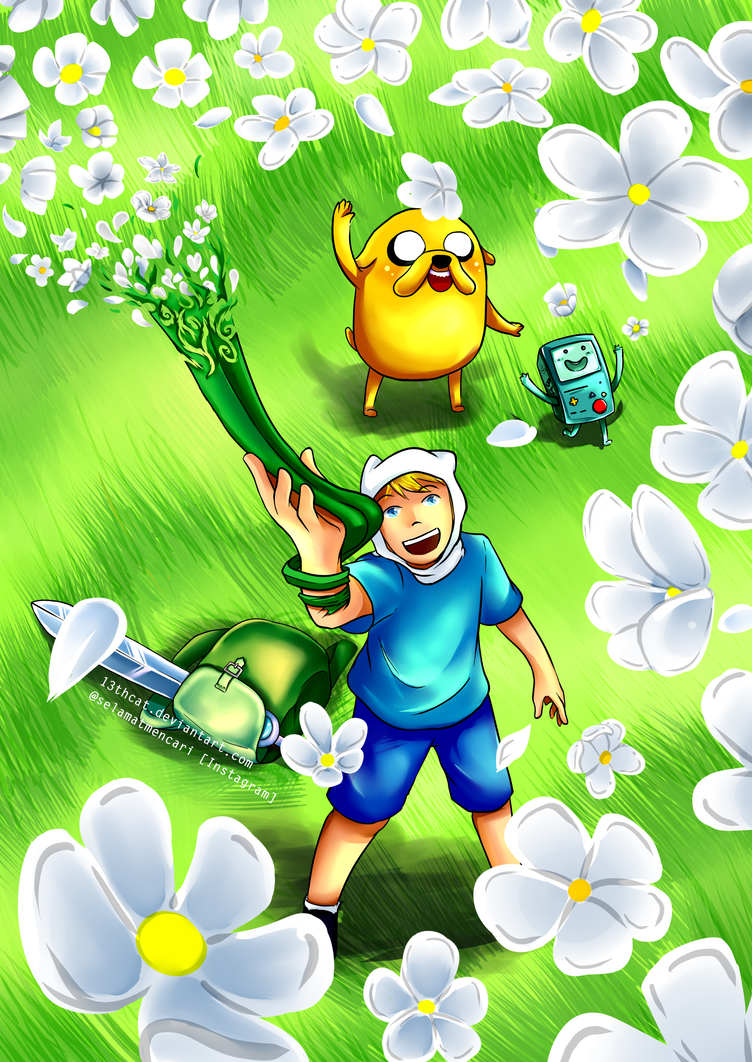 Adventure Time - Grass Blade Sword by 13th-Cat