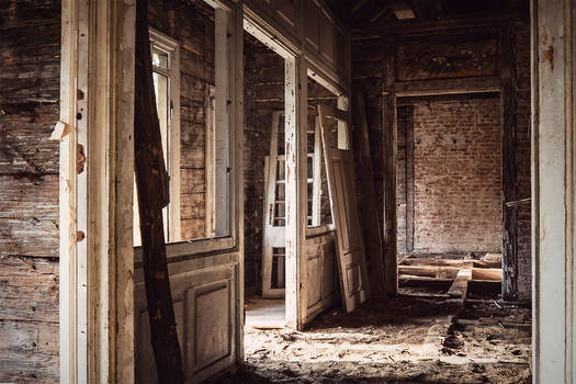 Interior of abandoned Old House