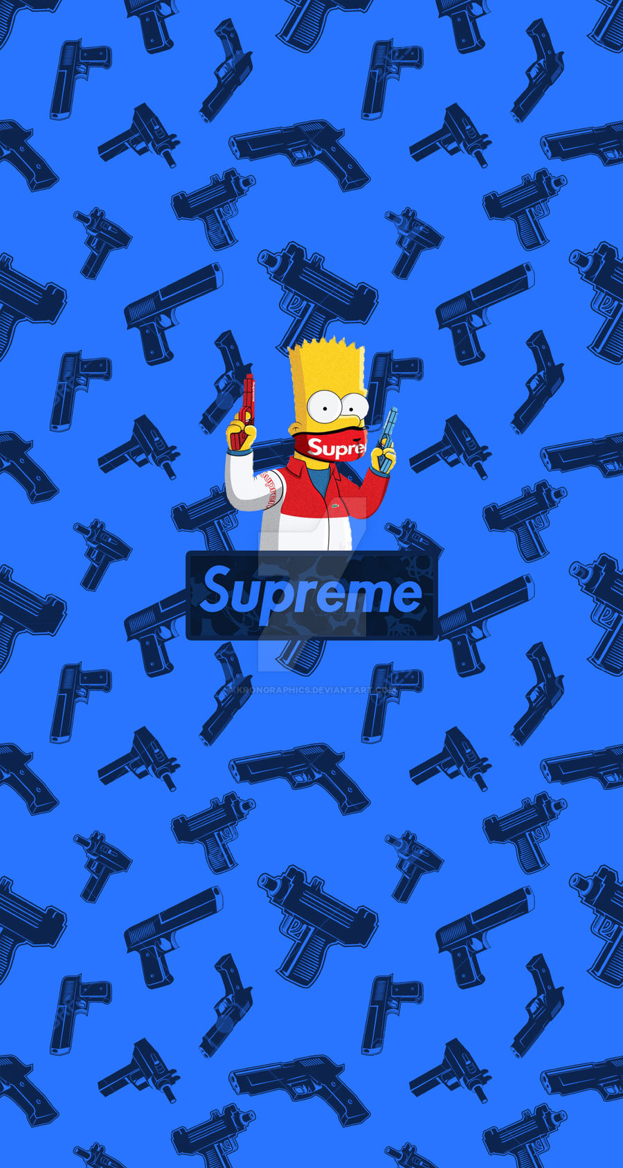 Supreme X Simpsons Iphone Wallpaper By Krongraphics On