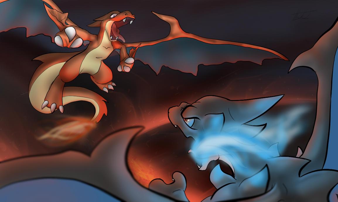 charizard vs dragonite wallpaper