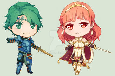 Alm and Celica Chibis