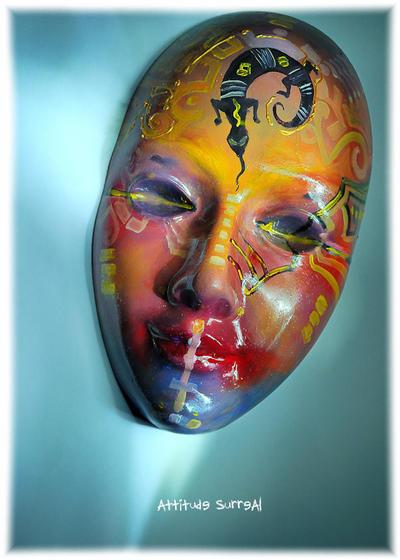 Voodoo Mask by Attitudesurreal