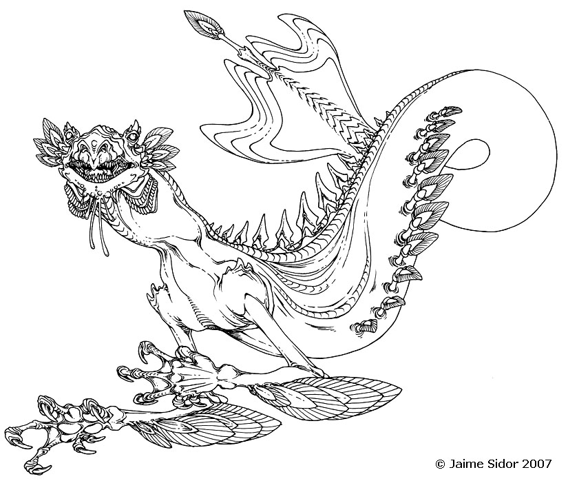 Crustacean type Sea Dragon by Emryswolf