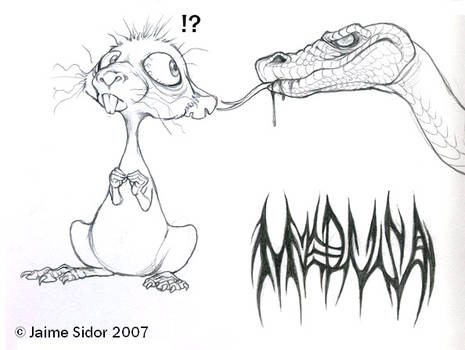 Medusa and her rat..