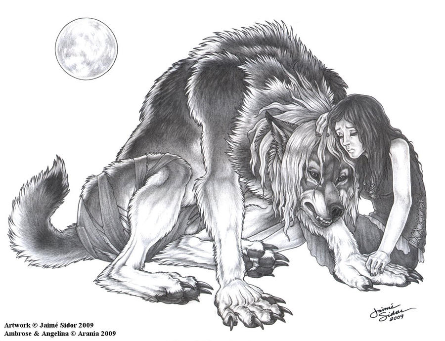 Hybrid Werewolf Coloring Pages