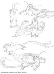 Lil' Bird Critter by Emryswolf