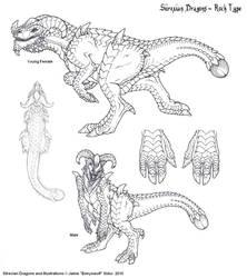 Rock Dragon Type by Emryswolf