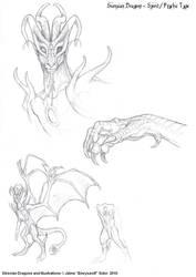 Spirit Dragon sketches