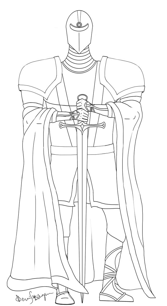 Medieval Knight sketch by DennisB-Art on DeviantArt