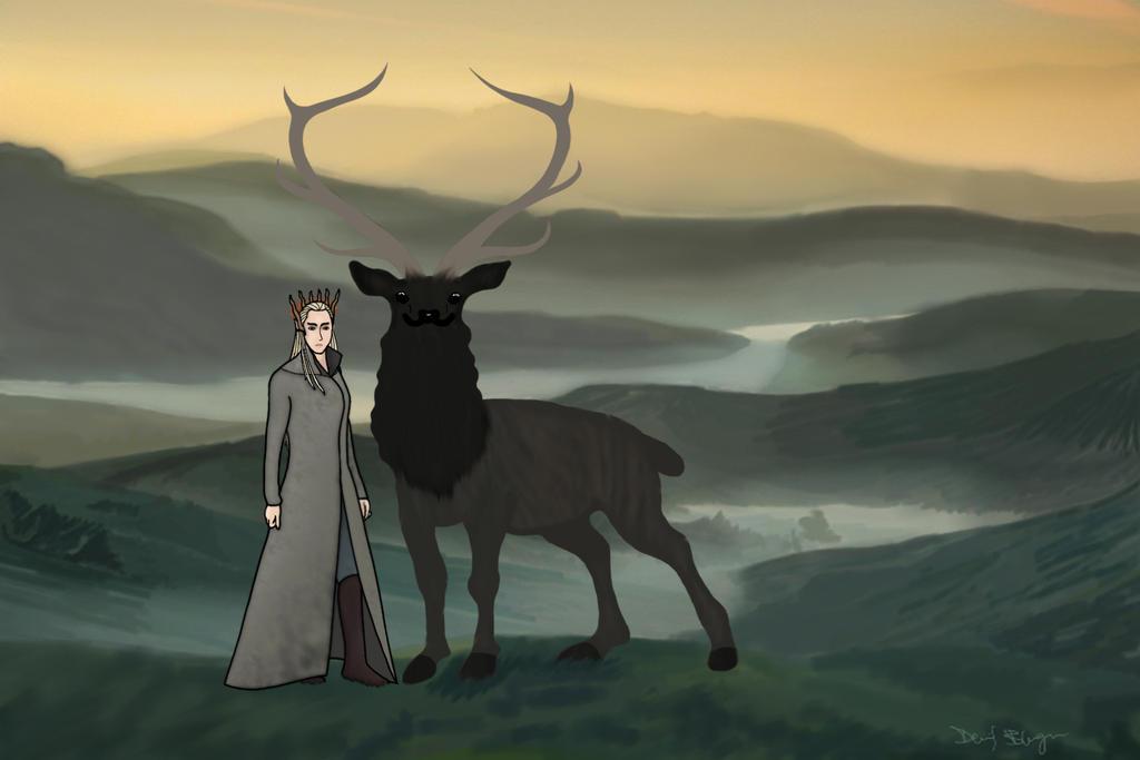 Thranduil King of Mirkwood by DennisB-Art