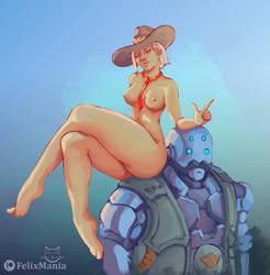 FMR_03-11-18 - Ashe - Overwatch by FelixMania