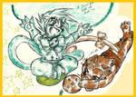 Goku x Vegeta by IsakiYukihara