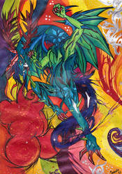 Happy Birthday Leon Chiro -Rainbow-Coloured Dragon