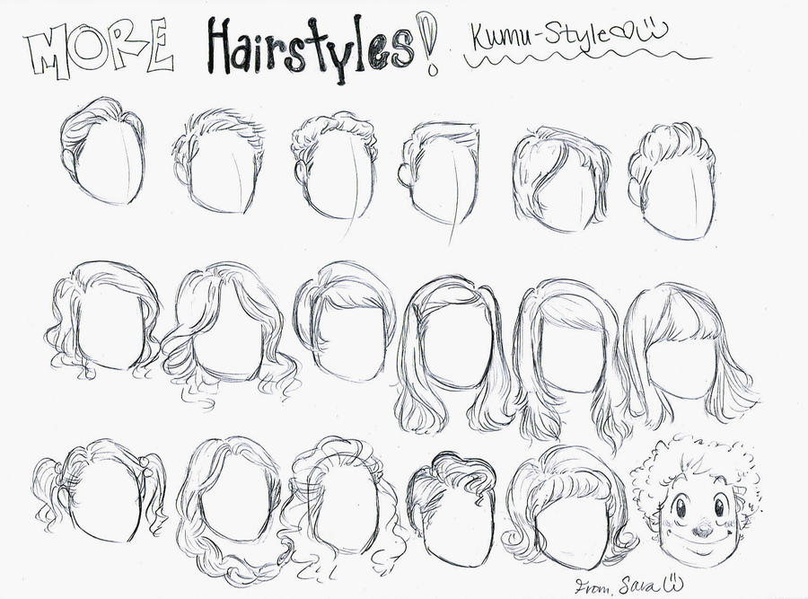 Hairstyle Drawings: Hairstyles 3 By Kumu18 On DeviantArt