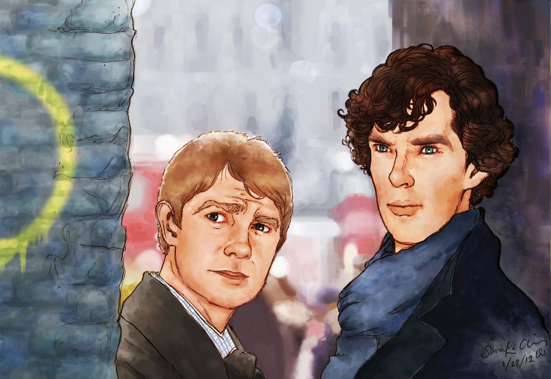 Sherlock and Watson by Kumu18