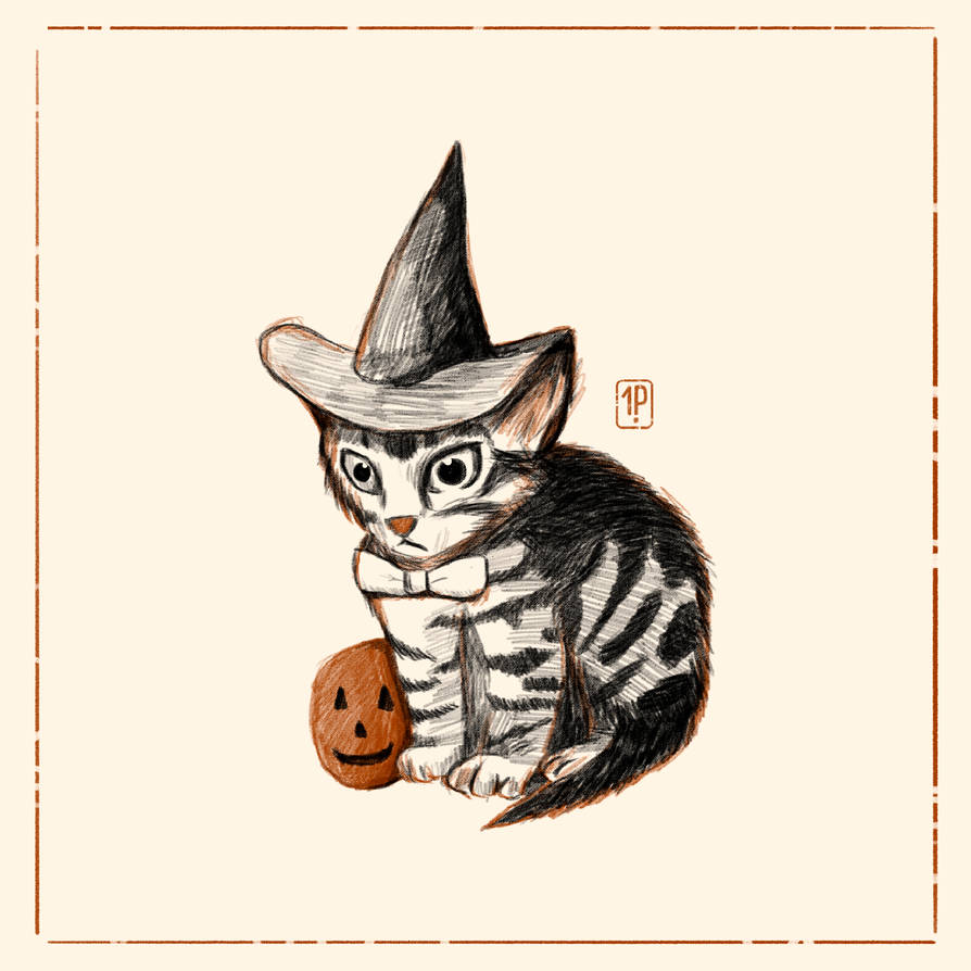 Lil Witchy Cat by Indipen