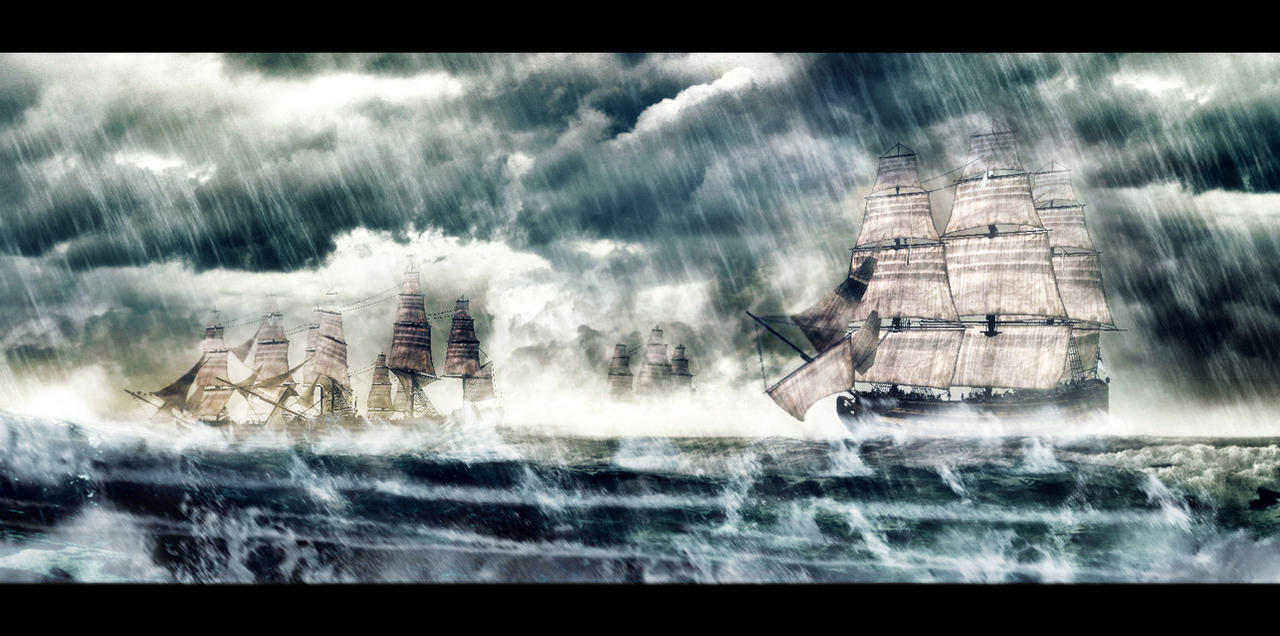 Stormy Fleet by MalteBlom