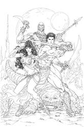 John Carter: Warlord of Mars #13 Variant Cover by malsuni