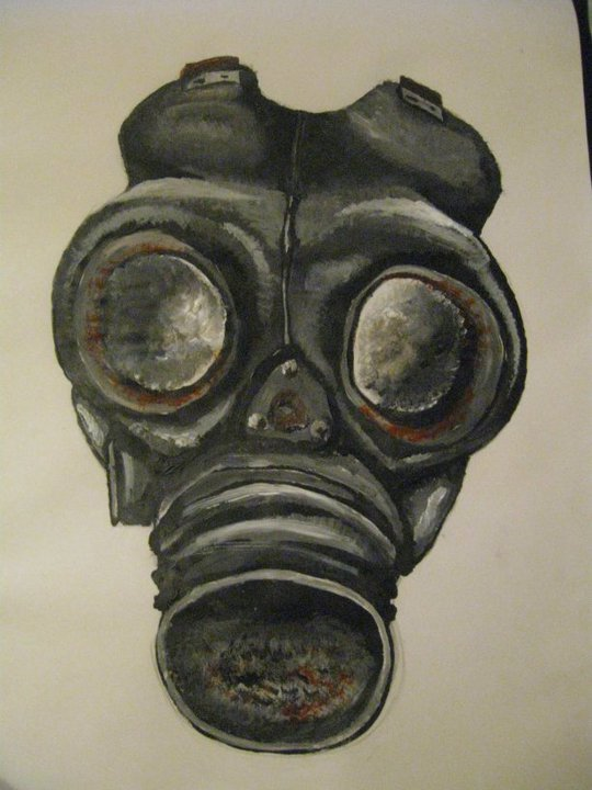 gasmask painting by xhanhanx on deviantart
