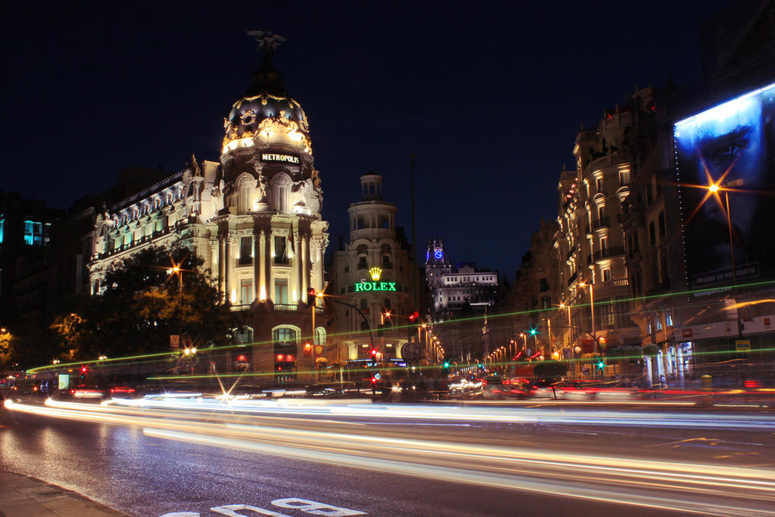 Long exposure (Madrid) by dariofk