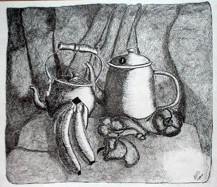 Pen and Ink Still Life 1