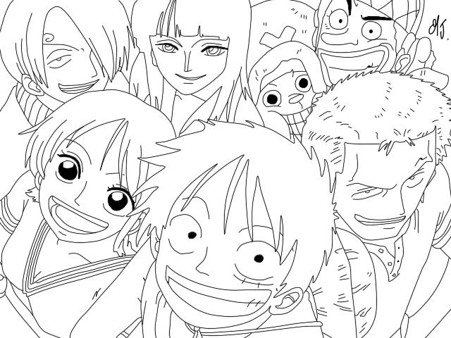 One Piece Da Colorare Fredrotgans