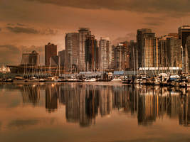 Vancouver Warm Wallpaper by MichelLalonde
