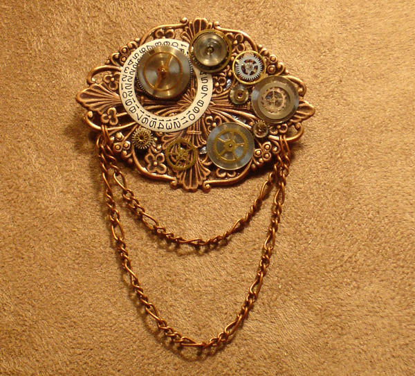 Steampunk Brooch by cjgrand