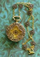 Copper Filigree Pocket Watch