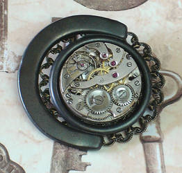 Clockwork Steampunk Brooch by cjgrand