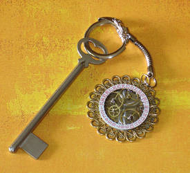 Steampunk Keychain by cjgrand