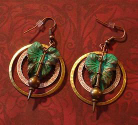 Steampunk Pendulum Earrings by cjgrand