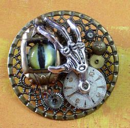 The Clockyard Steampunk Pin by cjgrand