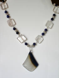Blue Agate, Sodalite and Quart