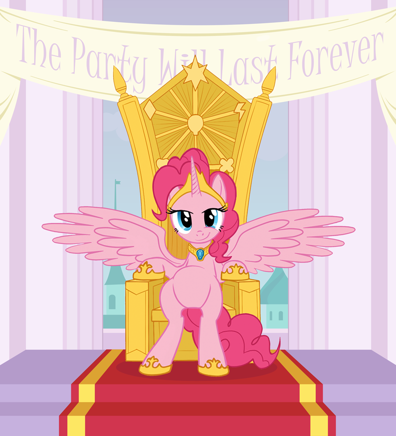 Pinkie Pie: The Party Will Last Forever by averagedraw