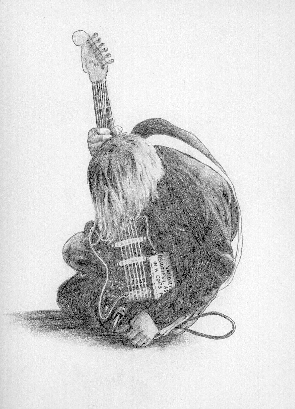It's just a graphic of Crafty Drawing Of Kurt Cobain