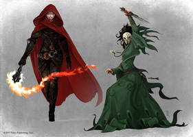 Pathfinder - Thrune Agent and Old One Cultist by TimKings-Lynne