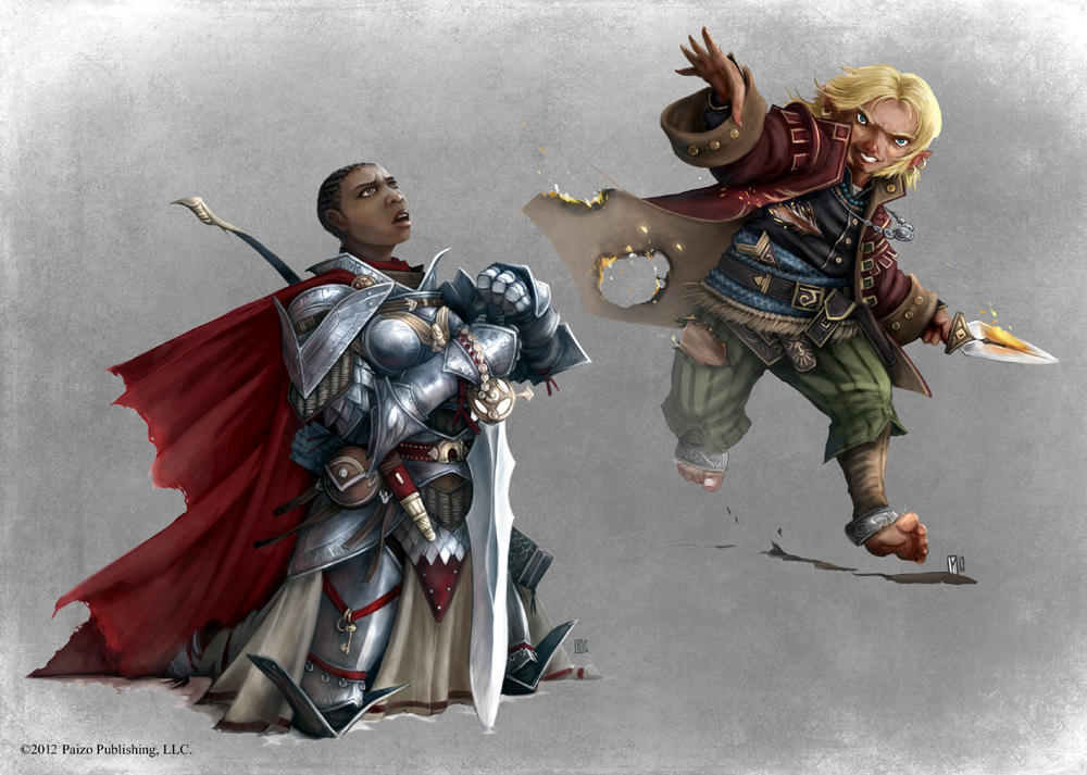 Pathfinder - Pally and Bard by TimKings-Lynne