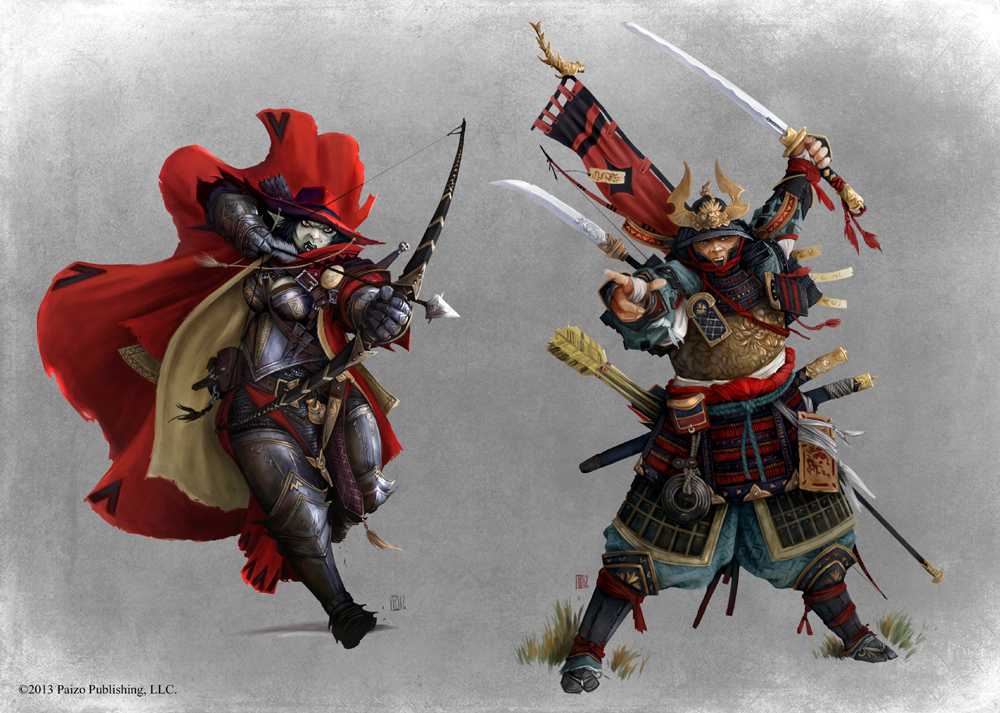 Pathfinder - Samurai and Inquisitor by TimKings-Lynne