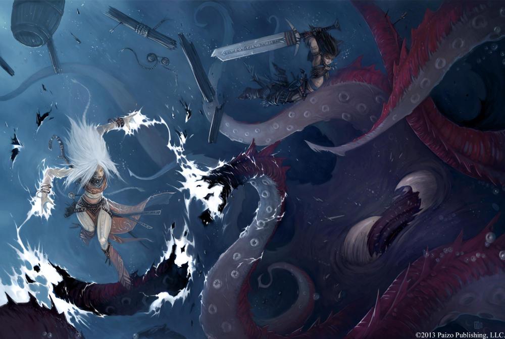Pathfinder - Mythic Kraken by TimKings-Lynne