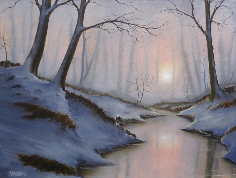 WinterSpring Forest by VenskeArts