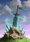 Celtic crystal sword of Power (print version)