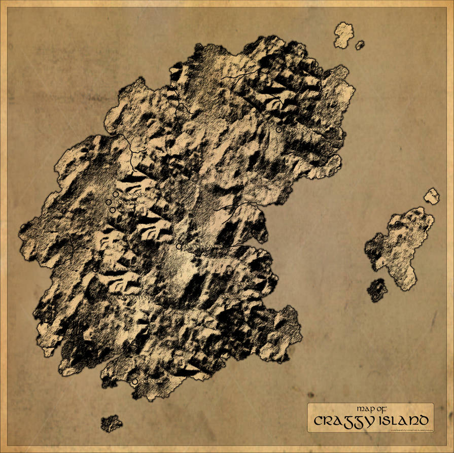 Father Ted: Map of Craggy Island by JonathanBluestone on